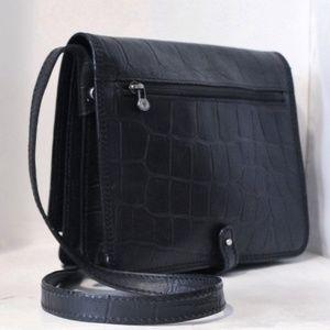 New Italian Leather Saddle Crossbody Bag